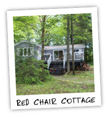 The Red Chair Cottage on Kennisis Lake