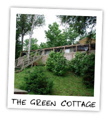 The Green Cottage on Kennisis Lake