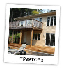 Treetops cottage on Kennisis Lake