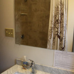 Marble vanities in both bathrooms