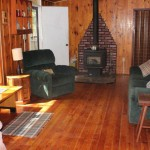 Living room. Knotty pine throughout. Country comfort.