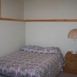 3rd bedroom in basement. Double bed.