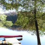 The Hideaway comes with a canoe and paddleboat, floating dock and swim raft. Shallow entry at shore for wading.