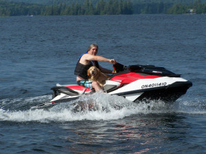 Cooling off on the Jet Ski