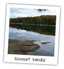 Sunset Shore on Kennisis Lake