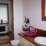 3 piece bathroom upstairs.  Note clawfoot tub.