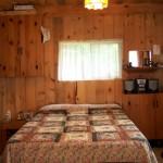 Cabin has queen bed.