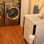 Brand new washer and dryer. 2 – piece bathroom.