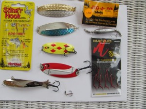 Tried and true lures from an old pro on Redstone Lake.
