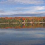 Panoramic view from our cottage on beautiful Kennisis Lake