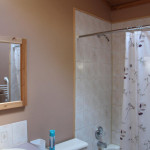 Upstairs 4 – piece bathroom with skylight