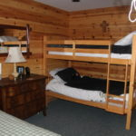 4th bedroom downstairs, single and a set of bunks
