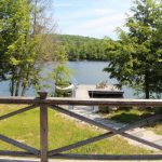 On a quiet bay on Little Redstone. Great spot for seniors. From front deck.