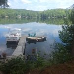 Cottage is nestled in a quiet bay on gorgeous Kennisis Lake