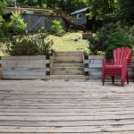Stationary deck, Muskoka chairs