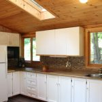 Newly renovated kitchen with skylight