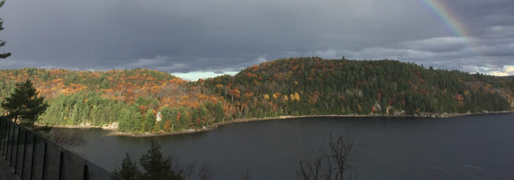Fall View of Redstone Lake from the deck