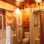 Main floor bathroom with walk-in shower