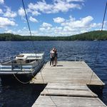 Ample dock. Deep water swimming. Cottage comes with paddleboat