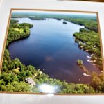 Aerial view of Glamor Lake. 9 kms. Our cottage is across from the island on the top right