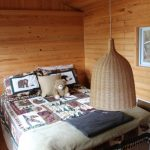 Double bed in bunkie