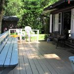 Front porch with bistro table and chairs, propane BBQ