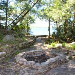 Lakefront fire pit