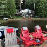 Ample docking. Cottage comes with canoe and paddleboat