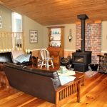 Country Comfort. Wood burning stove on main level