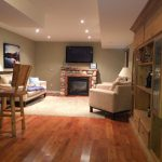 Recreation room features smart TV (Netflix), propane fireplace and bar