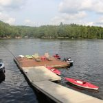 Large docking system with 2 kayaks and 2 paddleboards