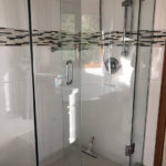 Ensuite glass and ceramic shower