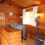 Bar in den with sink