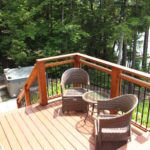 Tiered deck. To hot tub!