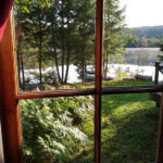 Lakeside bedroom window