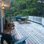 Ample deck. New railings