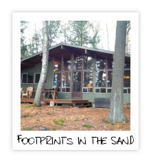 Footprints in the Sand - Kennisis Lake - Haliburton Highlands Ontario